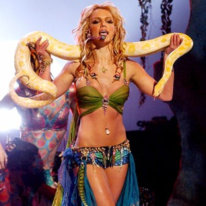 Britney_VMA britney spears writhing around with a snake rare promo live in concert