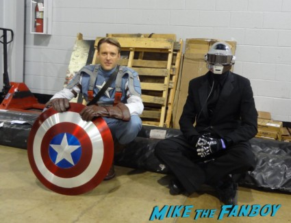 Cap and Daft Punk cosplay wizardworld comic con 2013 rare promo cosplay 2013
