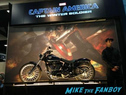 Cap's ride san diego comic con rare captai america The Winter soldier motorcycle chris evans