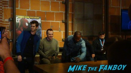 Matt Tolmach (producer), Avi Arad (master producer of many Marvel films), Jamie Foxx, Marc Webb (director) and Andrew Garfield.  Entertainment Weekly Spider Man 2 the amazing spider man poster tumblr fan meet up