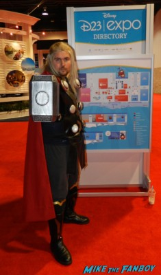 Thor Cosplay costume rare D23 disney convention cosplay props and costumes once upon a tim 007
