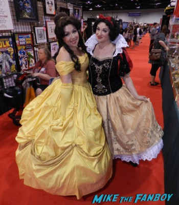Belle and Snow White Cosplay costume rare D23 disney convention cosplay props and costumes once upon a tim 007