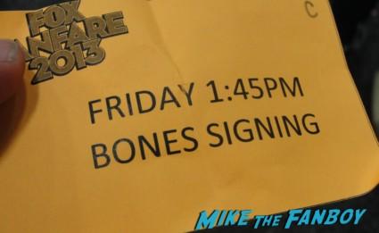 Bones autograph ticket san diego comic con david boreanaz