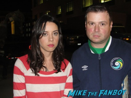 Aubrey Plaza fan photo signing autographs for fans rare