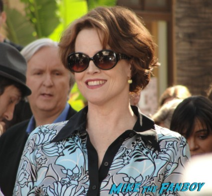 Sigourney Weaver At James Cameron's Walk of Fame Star Ceremony