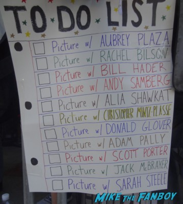 To Do list movie premiere sign billy beer's hand made sign for the movie premiere