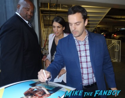 Jake Johnson fan photo signing autographs for fans rare promo drinking buddies movie premiere