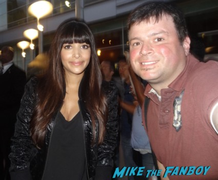 Hannah Simone fan photo signing autographs for fans rare promo drinking buddies movie premiere