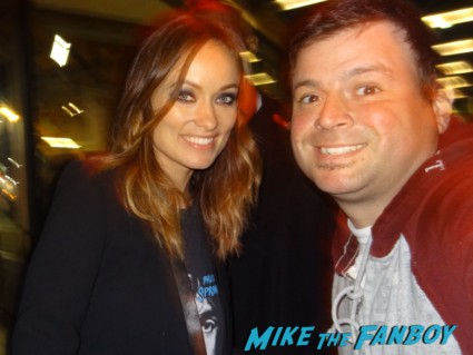 Olivia Wilde fan photo signing autographs for fans rare promo drinking buddies movie premiere