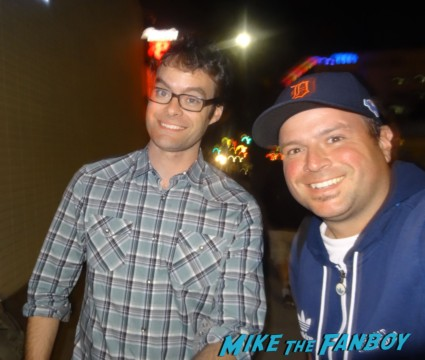 bill hader signing autographs fan photo rare promo SNL adventureland star