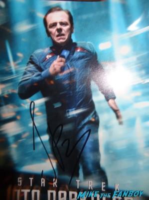simon pegg signed autograph photo rare promo scotty star trek into darkness rare
