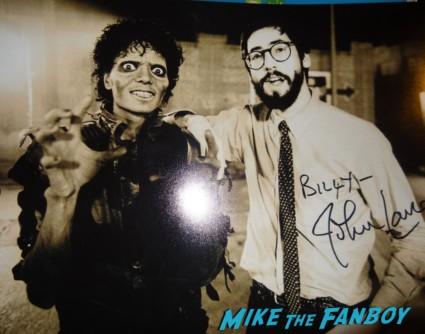 John Landis signed autograph photo rare promo michael jackson thriller