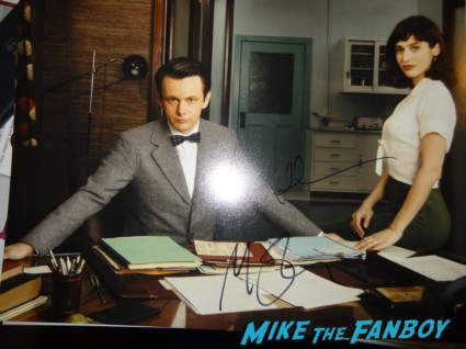 Michael Sheen and Lizzy Caplin signed sex photo rare