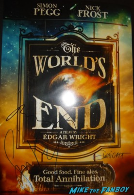 The World's End  signed autograph movie poster promo rare simon pegg nick frost