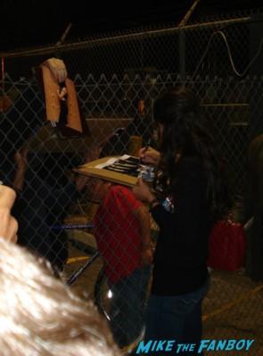 Jordana brewster signing autographs for fans jimmy kimmel live