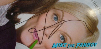Amy Poehler signed autograph baby mama mini poster Amy Poehler Signing Autographs for fans jimmy kimmel live