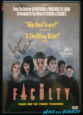 Jordana brewster signed autograph the faculty dvd cover Jordana brewster signing autographs for fans jimmy kimmel live