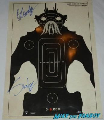 Sharlto Copley Neill Blomkamp signed autograph District 9 mini movie poster
