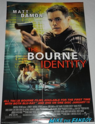 matt damon signed autograph The Bourne Identity mini movie poster