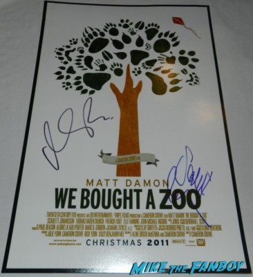 matt Damon signed autograph we bought a zoo mini movie poster rare promo