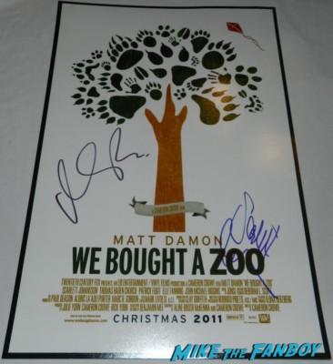 matt Damon signed autograph we bought a zoo mini movie poster rare promo