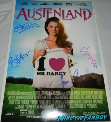 austenland mini poster signed autograph keri russell jane seymour