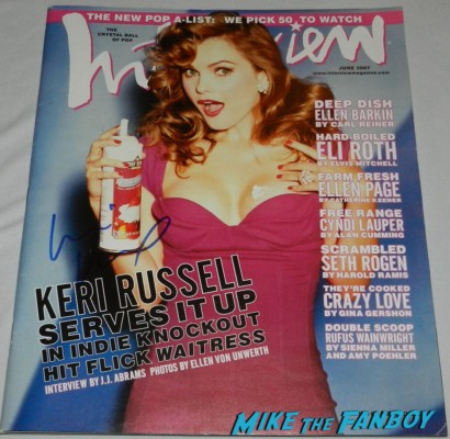 keri russell interview magazine signed autograph signed by Keri russell signing autographs