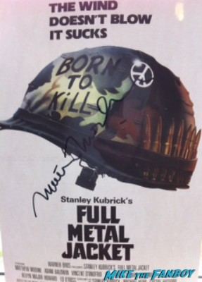 Matthew modine signed autograph full meal jacket mini movie poster rare