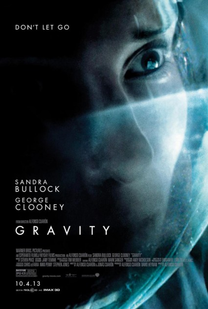Sandra Bullock gravity individual movie poster Gravity rare promo movie poster sandra bullock george clooney