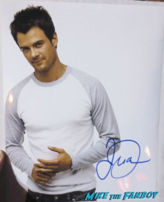 Josh Duhamel signed autograph hot photo shoot rare sexy signing autographs for fans rare promo hot sexy star