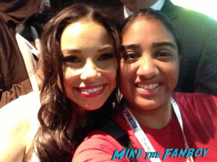 Jessica Parker Kennedy signing autographs for fans black sails booth sdcc 2013
