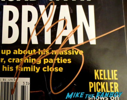 Luke Bryan signed autograph magazine cover rare signing autographs for fans rare promo hot sexy rare promo signed photo