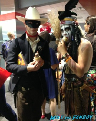 Lone Ranger and Tonto Monty Pyton Neo cosplay wizardworld comic con 2013 rare promo cosplay 2013