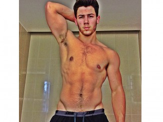 Nick jones shirtless naked hot armpit photo rare abs pecs sexy selfie self pic