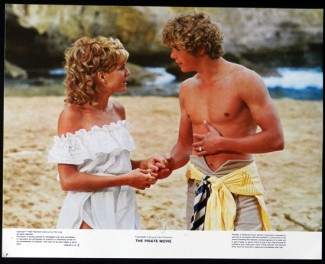 christopher atkins shirtless hot sexy The Pirate Movie dvd cover rare The Pirate movie rare lobby card with christopher atkins and kristy mcnicol