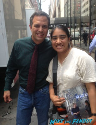 Mark Ruffalo fan photo signing autographs for fans the normal heart television movie