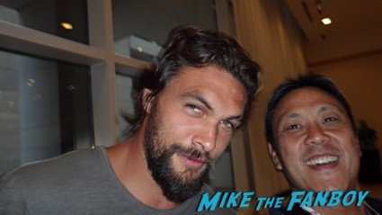 Jason Momoa game of thrones star fan photo signing autographs rare khal drogo