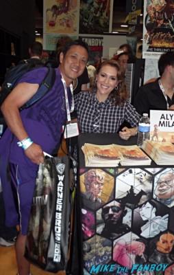 alyssa milano book signing at san diego comic con 2013 rare