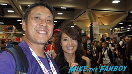 Ming na signing autographs fan photo rare promo agents of shielf