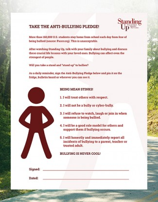 Standing up anitbullying pledge Standing up Screenshot rare promo box cover art