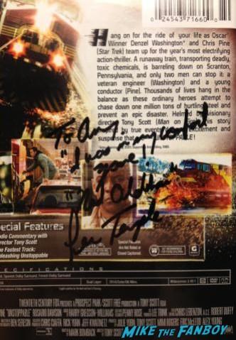 lew temple signed autograph unstoppable dvd cover rare signature