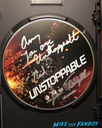 lew temple signed autograph unstoppable dvd cover rare signature