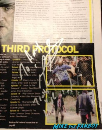 Iron E. Singleton signing autographs fna photo rare promo the walking dead t-dog rare