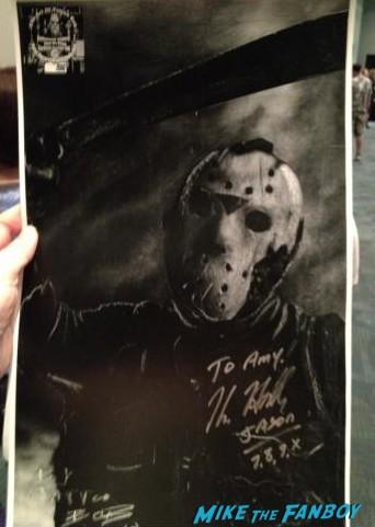 Kane Hodder signed autograph fan photo signing autographs fanfest 2013 rare promo