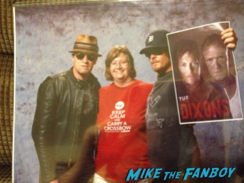The Dixon Brothers norman reedus fan photo rare the walking dead promo fanfest 2013