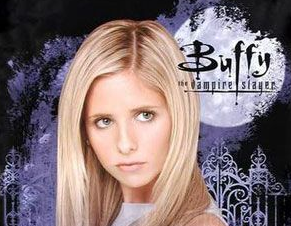 Buffy the vampire slayer poster sarah michele gellar rare season 2 logo
