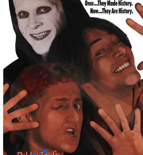 bill and ted's bogus journey Bill and ted's excellent adventure movie poster header alex winter keanu reeves