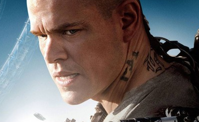 Matt Damon Elysium photo logo