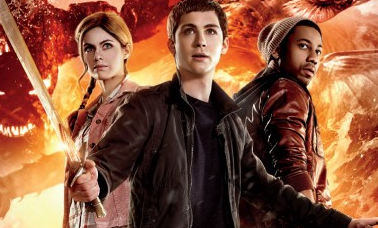 Percy Jackson rare logo promo bomb movie poster