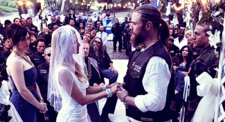 Opie and Lyla's wedding sons of anarchy rare promo wedding